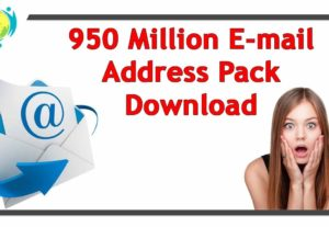 I will give you 950 million plus database email marketing list