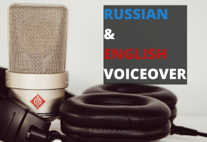 I will professionally record a female Russian or English voiceover