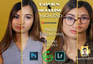 I will do professional high end model photo retouching & Enhancement