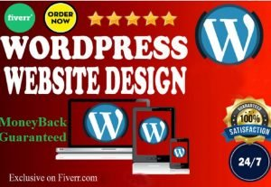 I will create a gorgeous WordPress website design and blog