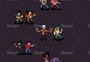 31569I will make a professional pixel art for your game