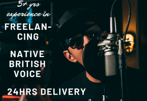 I will record a british english voiceover narration in 24 hours