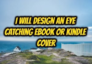 I will design an attractive ebook or kindle book cover