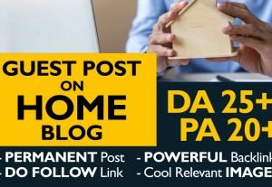 I will submit a guest post on the quality home blog