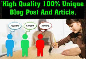 I will write awesome SEO Friendly Blog Post for You