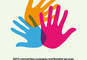 I will do 300 best blog comments back link and logo related jobs.