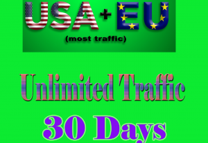 36042Unlimited Website Traffic from USA for 1 month