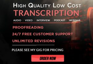 37129I WILL TRANSCRIBE 10 MINUTES VIDEO FOR YOU