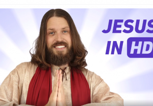 I will have Jesus deliver a birthday or anniversary greeting in HD