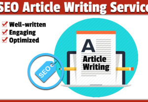 I will write an engaging 500 word SEO article covering any topic