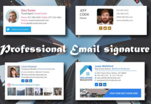 48413I will design a professional clickable email signature for email footer