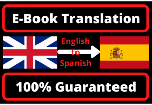 I will translate any document from English to spanish