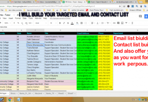 59292I will do lead generation to build your target email contact list