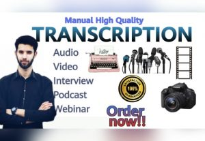 58996I will transcribe 60 min of audio in 24h language any language