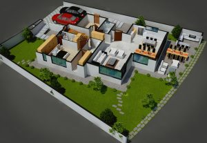 76873I will model a 3d floor plan rendering with texture and furniture