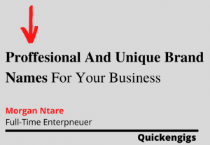 I will provide you with professional and unique brand names for your business