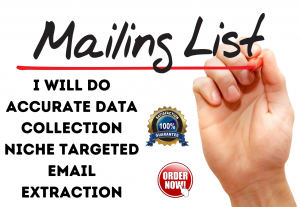 I will do accurate data collection niche targeted email extraction