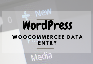 WordPress data entry and woo-commerce product listing