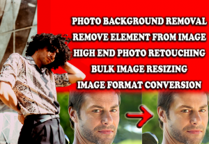 I will resize images retouch and background remove For free now