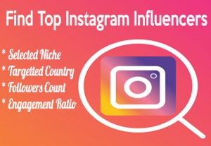 I will find the best Instagram influencers for your niche