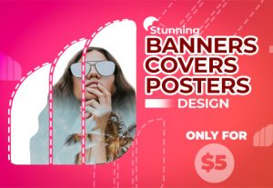 107587Design professional poster,banner and cover