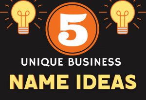 I will think of 5 original name ideas for your business
