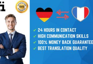 I will do german, french,spanish,italian,chinese,english translation manually
