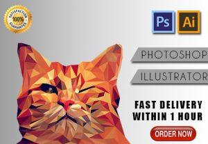 I will do any photoshop or illustrator works within 1 hour