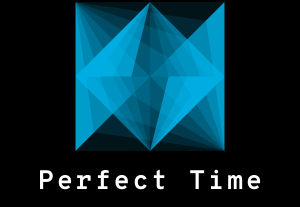 PERFECT TIME logo with audio. You can use it in gaming, business, & social media