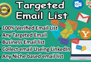 I will scrape google business leads with email