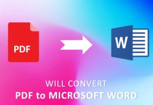 I'll convert pdf to word or word to pdf and format word documents