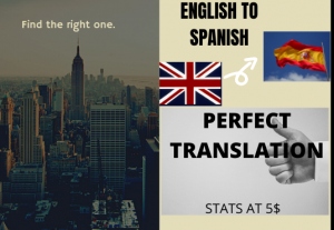 I will translate your text from english to perfect spanish upto 300 words