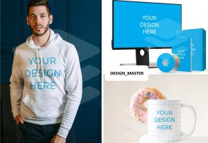 I will design 3 digital product mockups within 24 hours