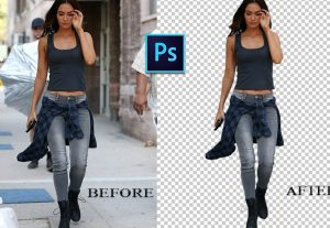 We will remove the background of your images and add new if you want