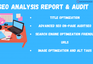 I will Provide Detailed SEO Analysis Report on Your Website