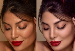 I will do professional high end photo portrait retouch