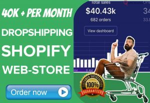 Want 40k per Month SHOPIFY Dropshipping business?