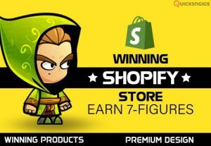 I will fabricate a prolific shopify website shopify store