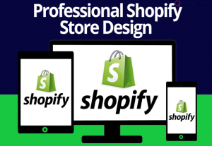 i will design a complete shopify store shopify website