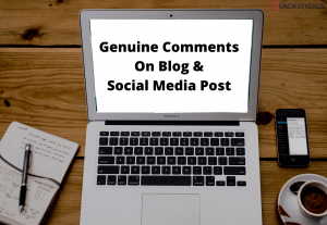 Post comments on your blog or social media posts