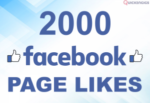 Add 2000+ Facebook non drop page likes