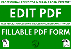 I will create PDF fillable forms