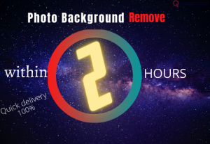 I will do remove background from photo,image in 1 hour, super fast delivery