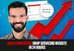 I will create an amazing drop servicing website for you