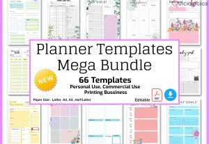 Editable Planner Templates Bundle, Editable Planner Pages Pack