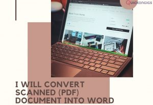 I will convert scanned PDF document into word or excel