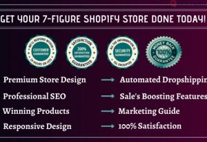 I will design 7 figure shopify website or shopify dropshipping store