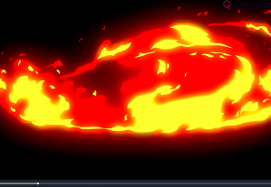 Fire Red Intro Logo 2D Opener