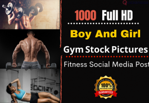I will give you 1000 HD fitness images for Instagram OR Social Media