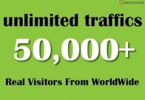 I will drive 50k web traffic to your website, blog or affiliate link